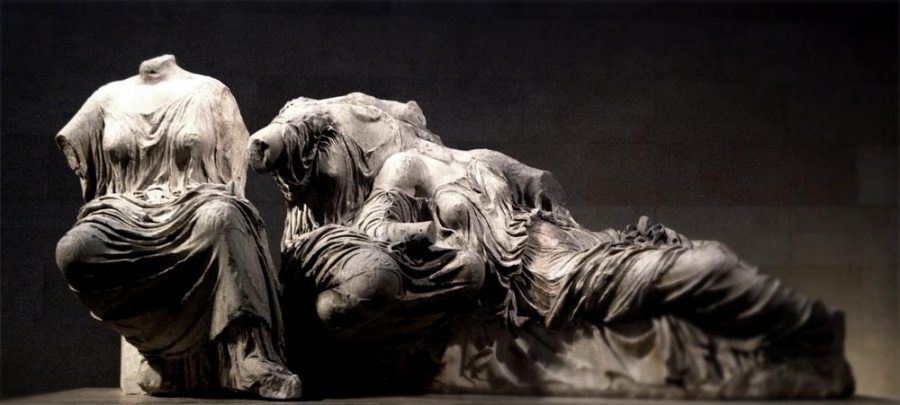 A favourite photograph of a favourite sculpture, originally part of the eastern pediment of the Parthenon and now residing in the British Museum.