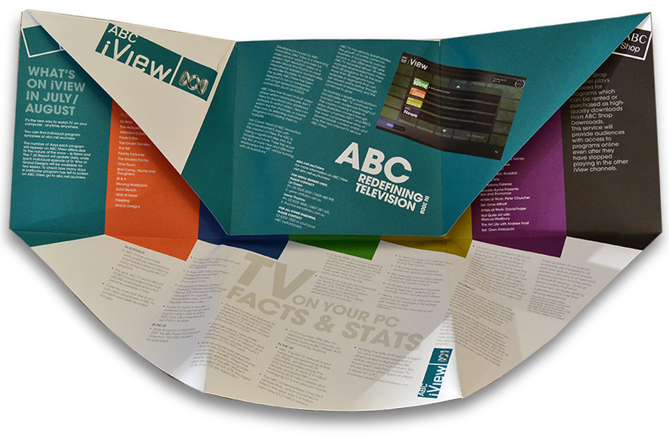 The press kit for the launch of ABC iView.