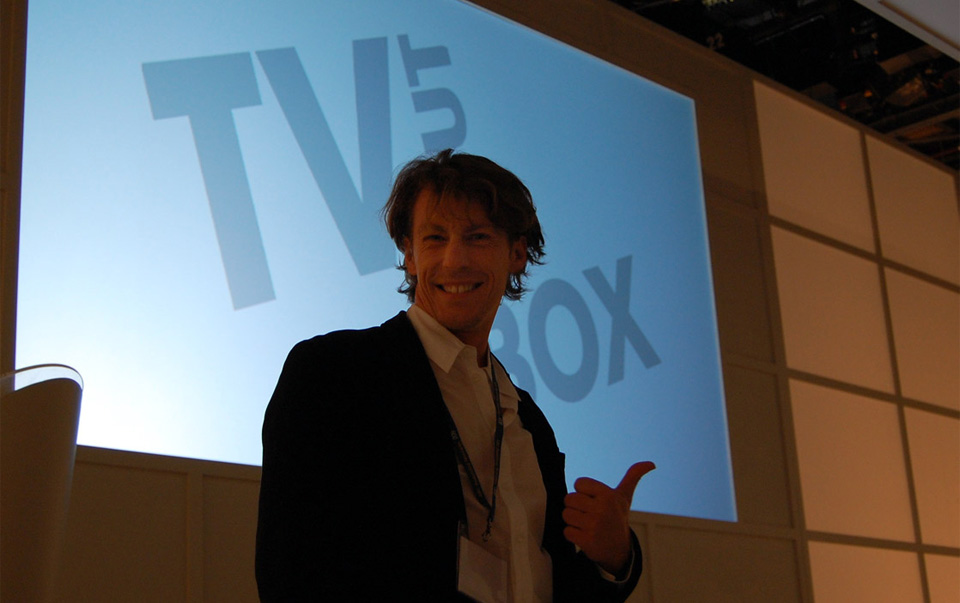 Me at the launch of iView.