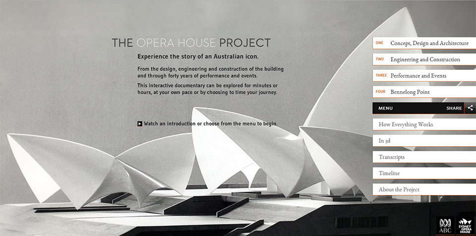 Home Page, The Opera House Project.