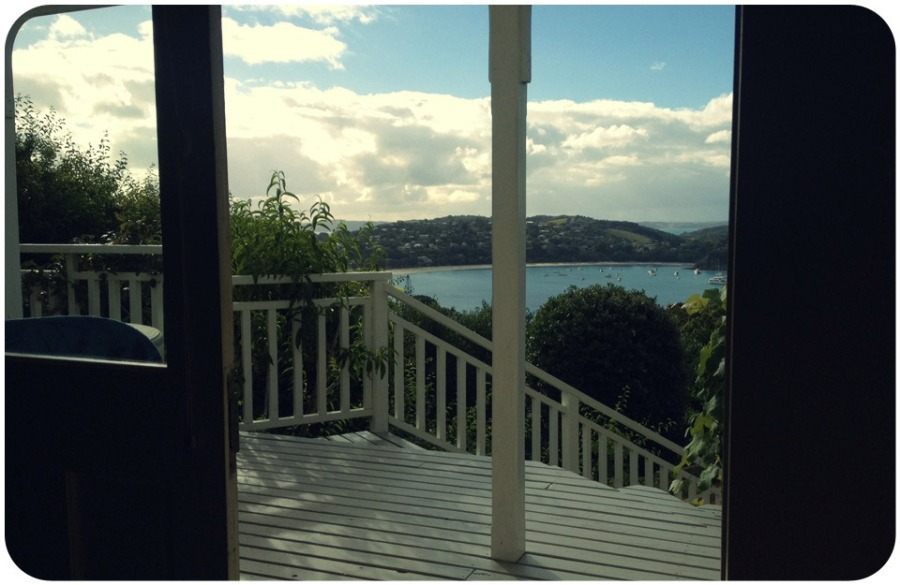 The view onto Waiheke Island