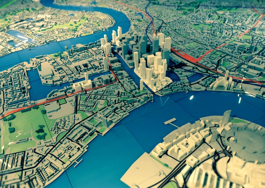 Great model of London at the NLA, the centre for London's built environment